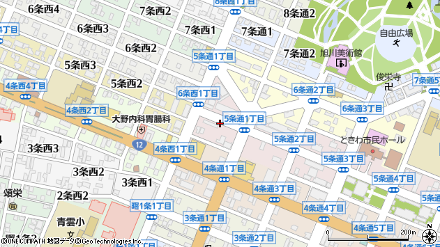 〒070-0035 北海道旭川市5条通8丁目の地図
