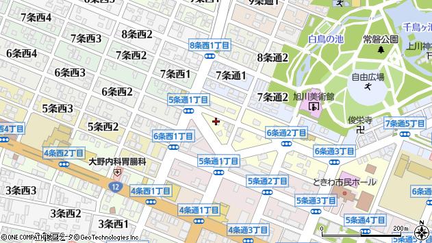 〒070-0036 北海道旭川市6条通2丁目の地図