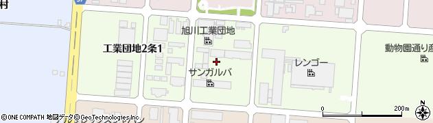 北海道旭川市工業団地2条周辺の地図