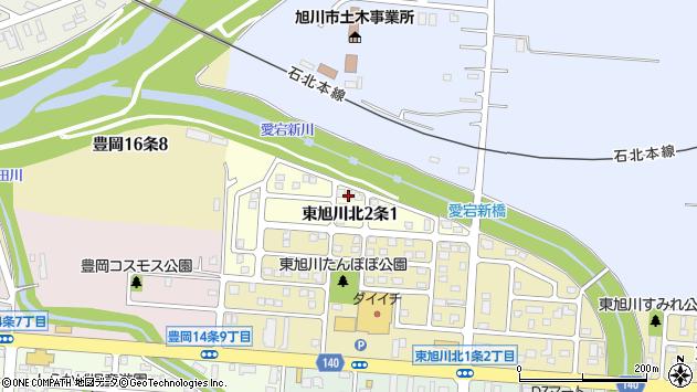 〒078-8252 北海道旭川市東旭川北2条の地図