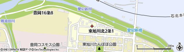 北海道旭川市東旭川北2条周辺の地図