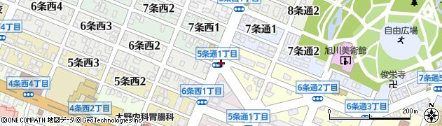 7条西1周辺の地図