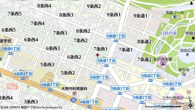 〒070-0057 北海道旭川市7条西の地図
