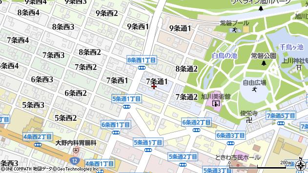 〒070-0037 北海道旭川市7条通2丁目の地図