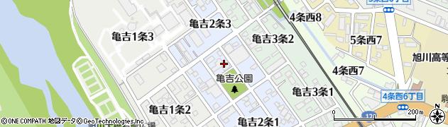 北海道旭川市亀吉2条周辺の地図