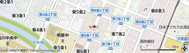 北海道旭川市東6条周辺の地図