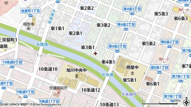 〒070-0023 北海道旭川市東3条の地図