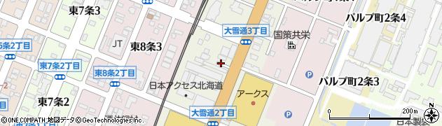 北海道旭川市大雪通周辺の地図