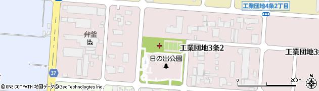 北海道旭川市工業団地3条周辺の地図