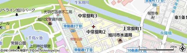 北海道旭川市中常盤町周辺の地図