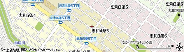 北海道旭川市忠和4条周辺の地図