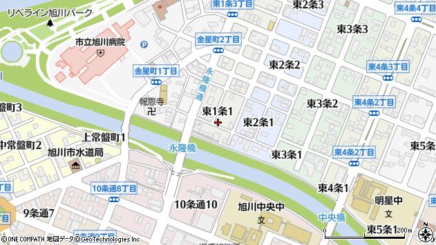 〒070-0021 北海道旭川市東1条の地図