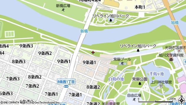 〒070-0039 北海道旭川市9条通8丁目の地図