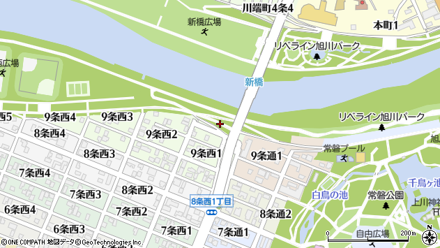 〒070-0059 北海道旭川市9条西の地図