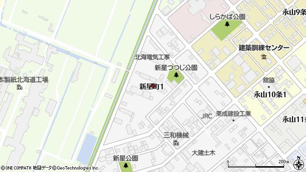 〒070-0014 北海道旭川市新星町の地図