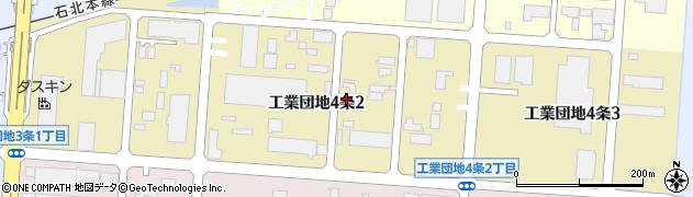 北海道旭川市工業団地4条周辺の地図