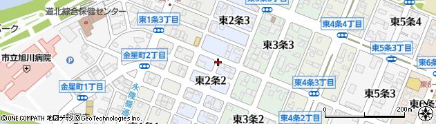 北海道旭川市東2条周辺の地図