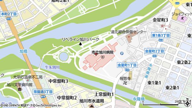 〒070-0029 北海道旭川市金星町の地図
