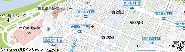 北海道旭川市東1条周辺の地図