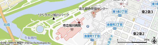 北海道旭川市金星町周辺の地図