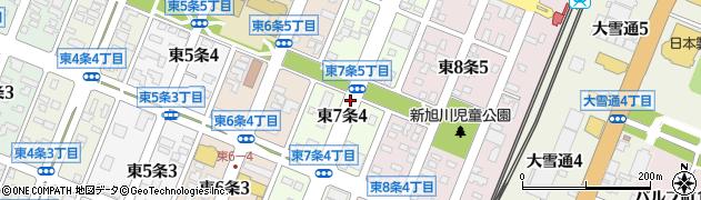 北海道旭川市東7条周辺の地図