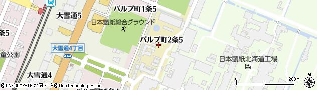 北海道旭川市パルプ町2条周辺の地図