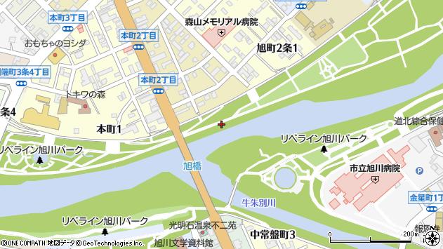 〒070-0831 北海道旭川市旭町1条の地図
