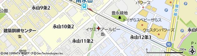 北海道旭川市永山11条周辺の地図