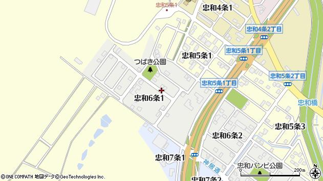 〒070-8046 北海道旭川市忠和6条の地図