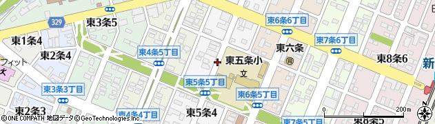 北海道旭川市東5条周辺の地図