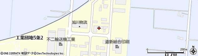 北海道旭川市工業団地5条周辺の地図