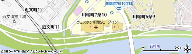 北海道旭川市川端町7条周辺の地図
