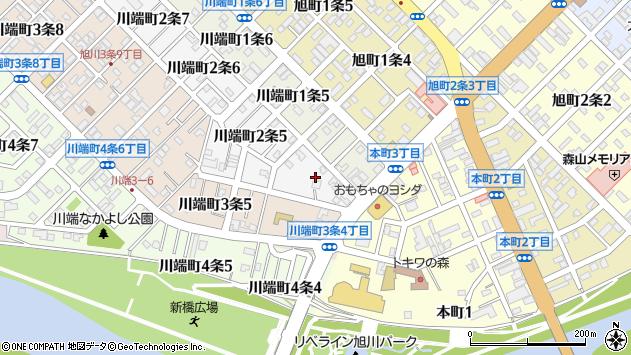 〒070-0812 北海道旭川市川端町2条の地図