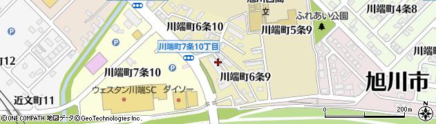 北海道旭川市川端町6条周辺の地図