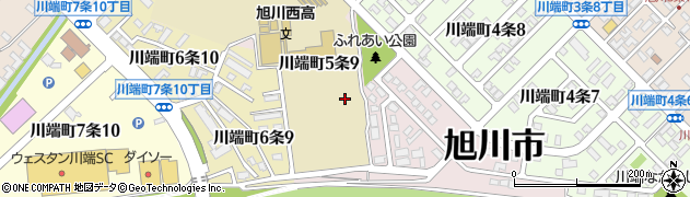 北海道旭川市川端町5条周辺の地図