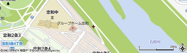 北海道旭川市忠和1条周辺の地図