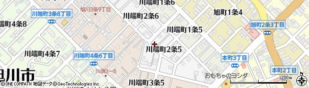 北海道旭川市川端町2条周辺の地図