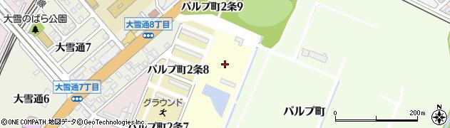 北海道旭川市パルプ町3条周辺の地図