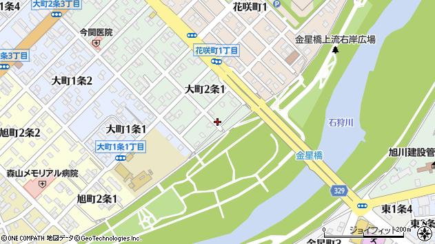 〒070-0842 北海道旭川市大町2条の地図