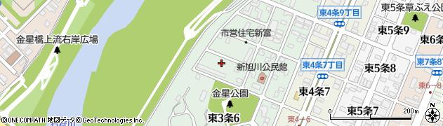 北海道旭川市東3条周辺の地図