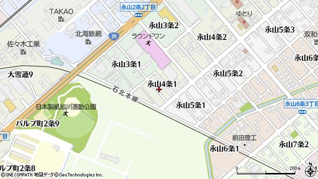 〒079-8414 北海道旭川市永山4条の地図