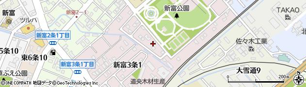 北海道旭川市新富3条周辺の地図