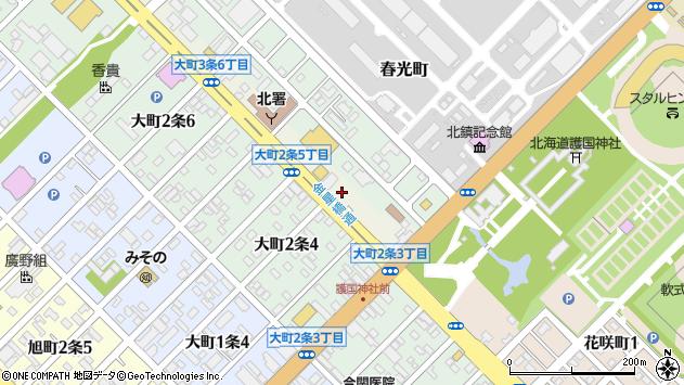 〒070-0843 北海道旭川市大町3条の地図