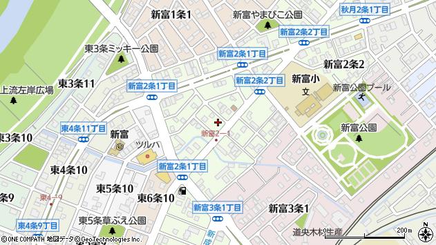 〒070-0002 北海道旭川市新富2条の地図
