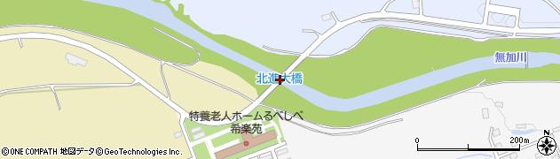 北進大橋周辺の地図