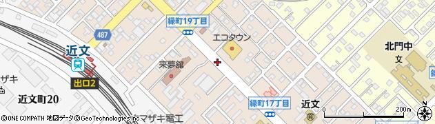 北海道旭川市緑町周辺の地図