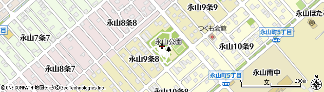 北海道旭川市永山9条周辺の地図