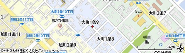 北海道旭川市大町1条周辺の地図
