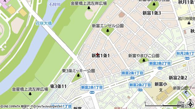 〒070-0001 北海道旭川市新富1条の地図