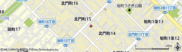 北海道旭川市北門町周辺の地図